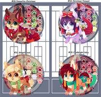 Kitsunet Christmas Adoptables! (SOLD) by Miizue