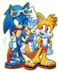 Sonic 'n' Tails (Coloring Commission) by herms85