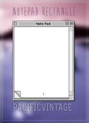 NotePad Rectangle* by pacificvintage