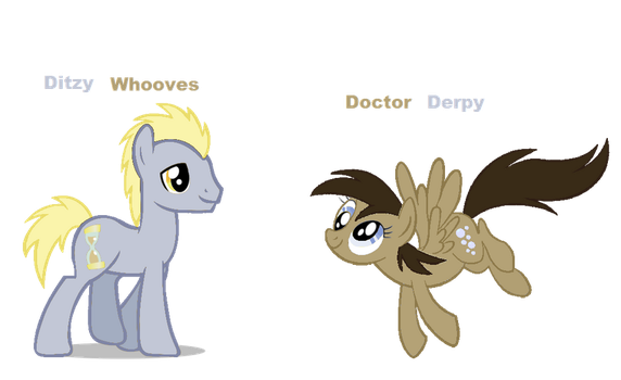 Doctor Derpy and Ditzy Whooves by Akamaru01