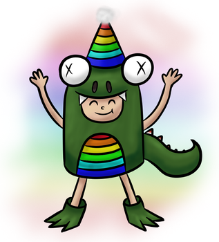 Happy Birthday RainbowZilla ! by PyrgusM