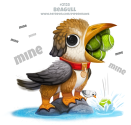 Daily Paint 2126. Beagull by Cryptid-Creations
