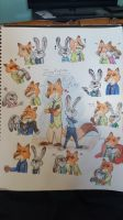 Zootopia: Nick x Judy Collage by KaitlynAnn