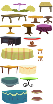 Tables, Stools and Such Accessory Set by SelenaEde