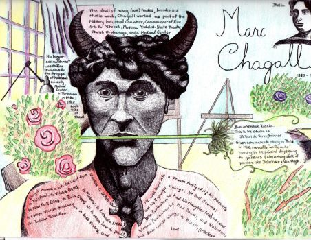 Illustrated biography: Marc Chagall by Trylledrik
