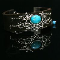 LUHTRAX - Silver, Leather, Turquoise. by LUNARIEEN