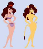 Megara Bikini and Lioness by Dinalfos5
