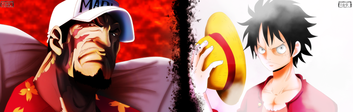 Battle of Badass: Luffy vs. Akainu by IIYametaII
