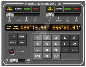 Inertial Reference System panel