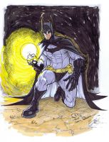 Batman detective mode pre-order sketch markers by JoeyVazquez