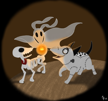 Tim Burton's Dogs by ToonSkribblez