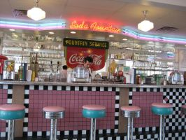 Soda Fountain Stock by chamberstock