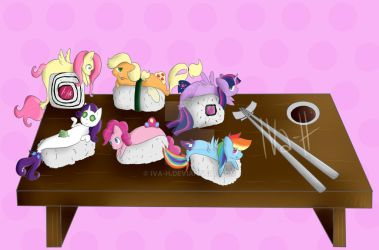 mlp sushi-p is magic by Iva-H