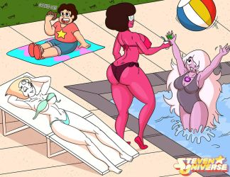SU The Crystal Gems having Fun by DJWill