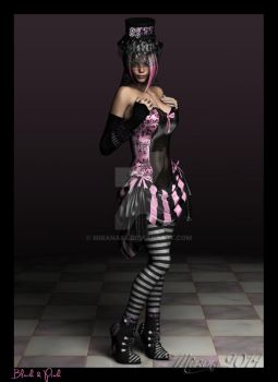 Black and Pink by Mirana84