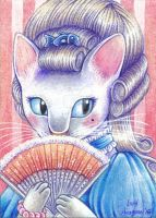 Lady Mewrie (ACEO) by Lord-Aragoon
