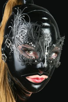 Late Hood and a Filigree Mask by LatexModel