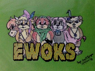 Ewoks by Dominic-Red