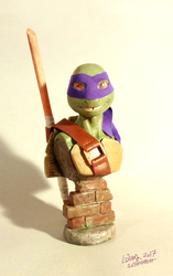 Tmnt Donatello Bust by suthnmeh