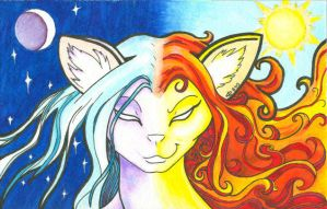 Moon and Sun by Catgoyle