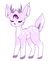 mythical fawn by fabledfawn