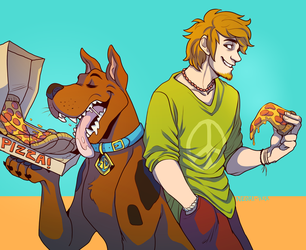 Shaggy and Scooby by NEOmi-triX