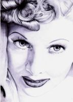 lucille ball ballpoint pen by skunkhughest