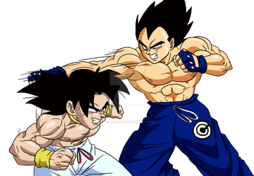 What If - Broly trains with Vegeta by MalikStudios