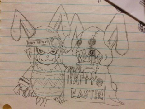 Happy Easter with Appmon! by Omnimon1996