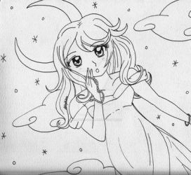 Dream Lady Line Art by Magical-Mama
