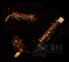 Steampunk USB Drive by Lostwaxoz