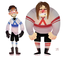 hockey character concepts by SIIINS