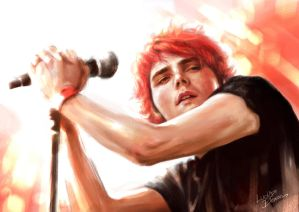Gerard Way..Bright..Red.. by LUCKYDEMONGIRL