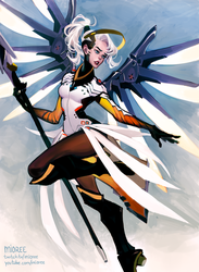 Mercy .Overwatch. by mioree-art