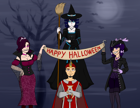 Happy Halloween from the Silkwood Siblings by Ankaa-Phoenicis
