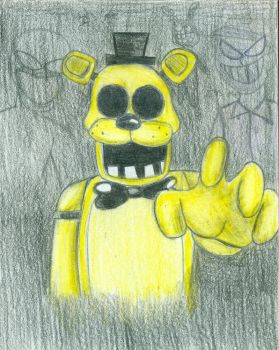 Golden Freddy FNAF by Yojama