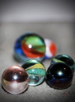 Faded marbles by Pfundner