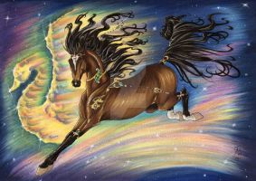 Galactic Gallop by AndromedasWitchery
