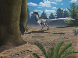 Sign of the Dromaeosaur by EWilloughby