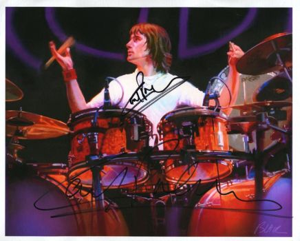 Carl Palmer, signed by Cynthia-Blair