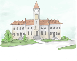 University building (colored) by electronicdave
