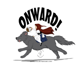 Shirt Design: Onward! by wolfanita