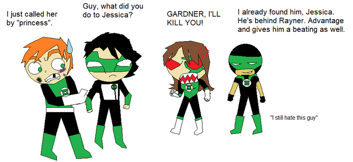 Green Lanterns Chibi by CamiloSama