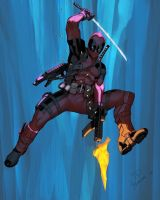 Deadpool colored by Yinfaowei by Max-Dunbar