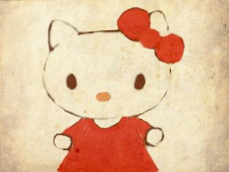 drawing of hello kitty by stacylyn