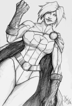 Powergirl commission by hawthornearts
