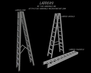 [MMD Accessory] Ladder + DL by The-Horrible-Mu