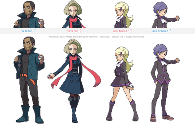 Pokemon XY trainer sprites ( V ) by Nephae