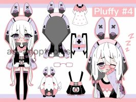 Pluffy Bunny adoptable CLOSED #4 by AS-Adoptables