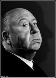 Alfred Hitchcock by BikerScout